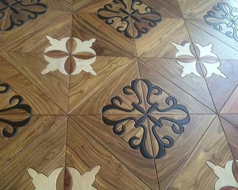 亚花梨酸枝实木复合地板应用